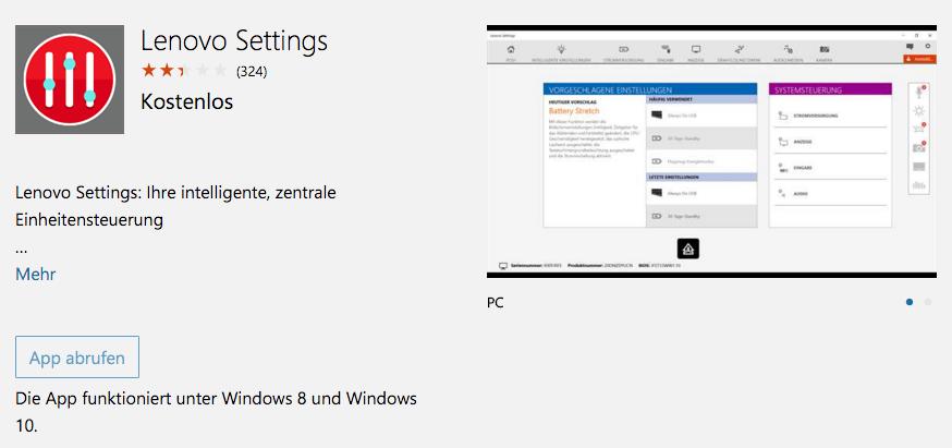 Akkupflege bei ThinkPads unter Windows 10 - Microsoft
